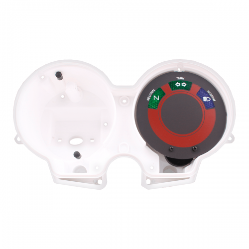 Carcaça Interna Branca do Painel Adaptável p/ Fan 125 09-13 (com visor)