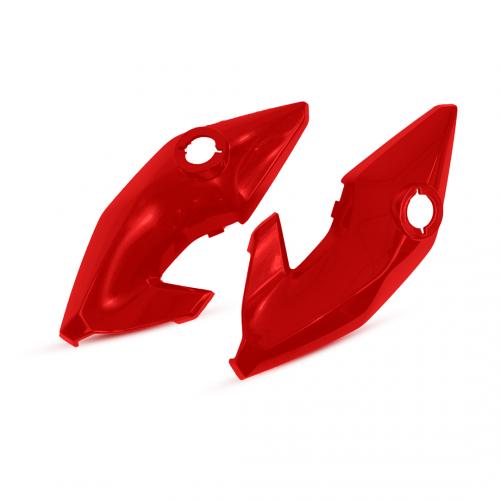 Carenagem do Farol Lateral (Dir./Esq.) Adap. p/ Titan 150 ESD EX 2014-15 - Vermelho Pimenta Perol.