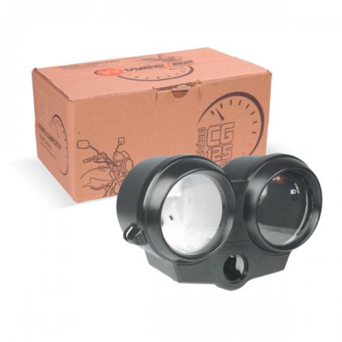 Conjunto Carcaça Painel Adaptável p/ Fan 125 05-08 (superior, interna c/ visor, inferior) - caixa individual