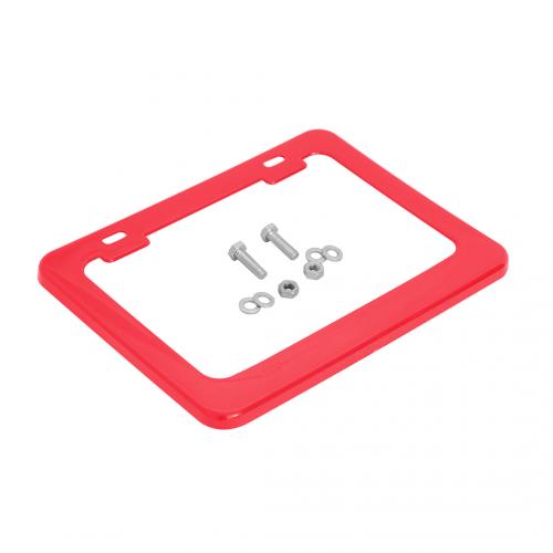 Moldura de Placa 187x136mm (c/ porca, parafuso, arruela) vermelho