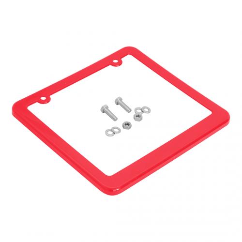 Moldura de Placa 200x170mm (c/ porca, parafuso, arruela) vermelho