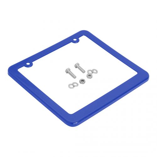 Moldura de Placa 200x170mm (c/ porca, parafuso, arruela) azul